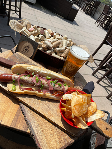 Image of Bacon and Beercheese Dog platter