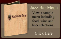 Sample Jazz Bar Menu